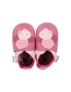 Scarpe Bobux neonato bee rose rosa