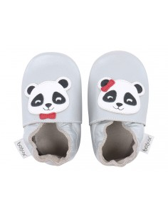 Scarpe Bobux neonato panda silver grigio chiaro