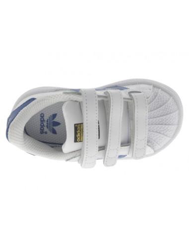Scarpe Adidas Superstar bambino infant bianco e blu ef874931a34
