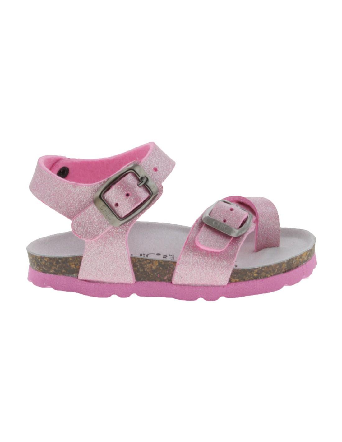 Bambina Glitter Sandalo Rosa Sandalo Biochic Glitter Biochic Bambina Sandalo Rosa 80Nnwm