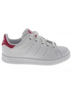 Scarpe Adidas Stan Smith C bambino bianco e fucsia