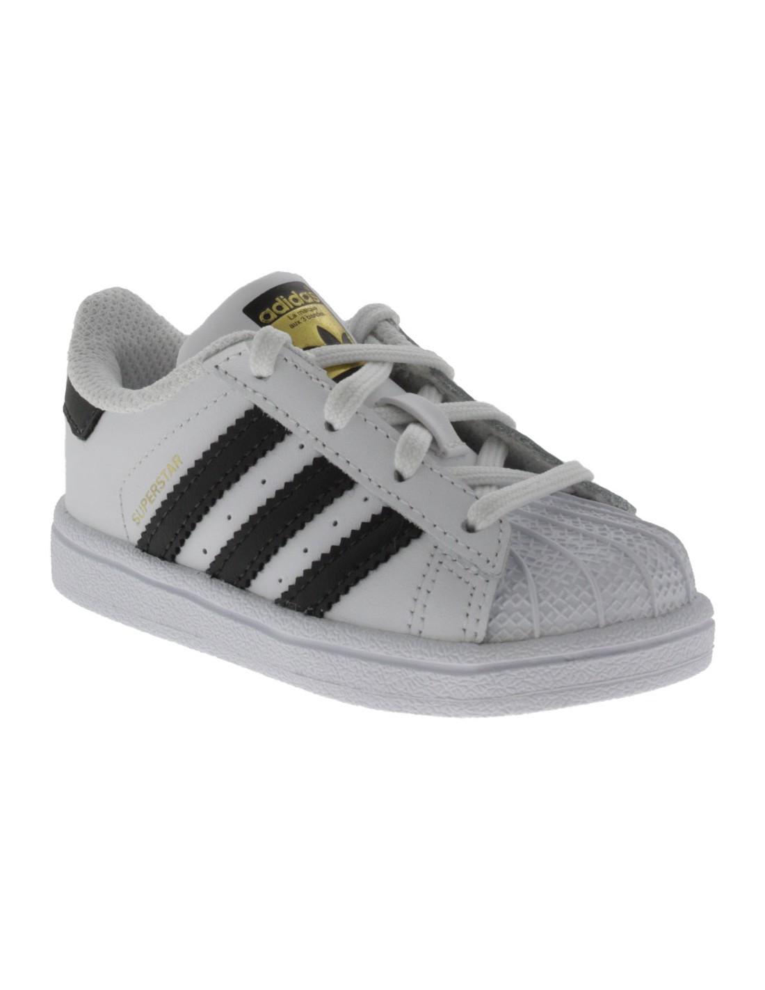 separation shoes dbfb6 e4bac Scarpe Adidas Superstar bambino primi passi bianco e nero limited edition