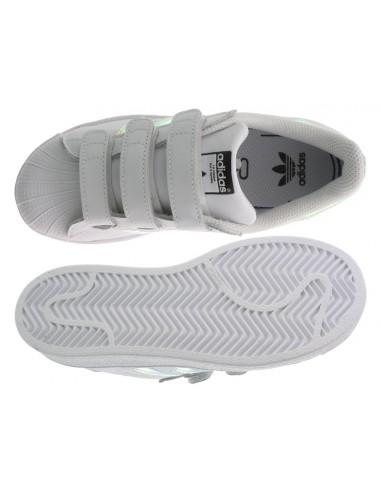 free shipping 75a74 9b106 Scarpe Adidas Superstar bambina con strappi bianco