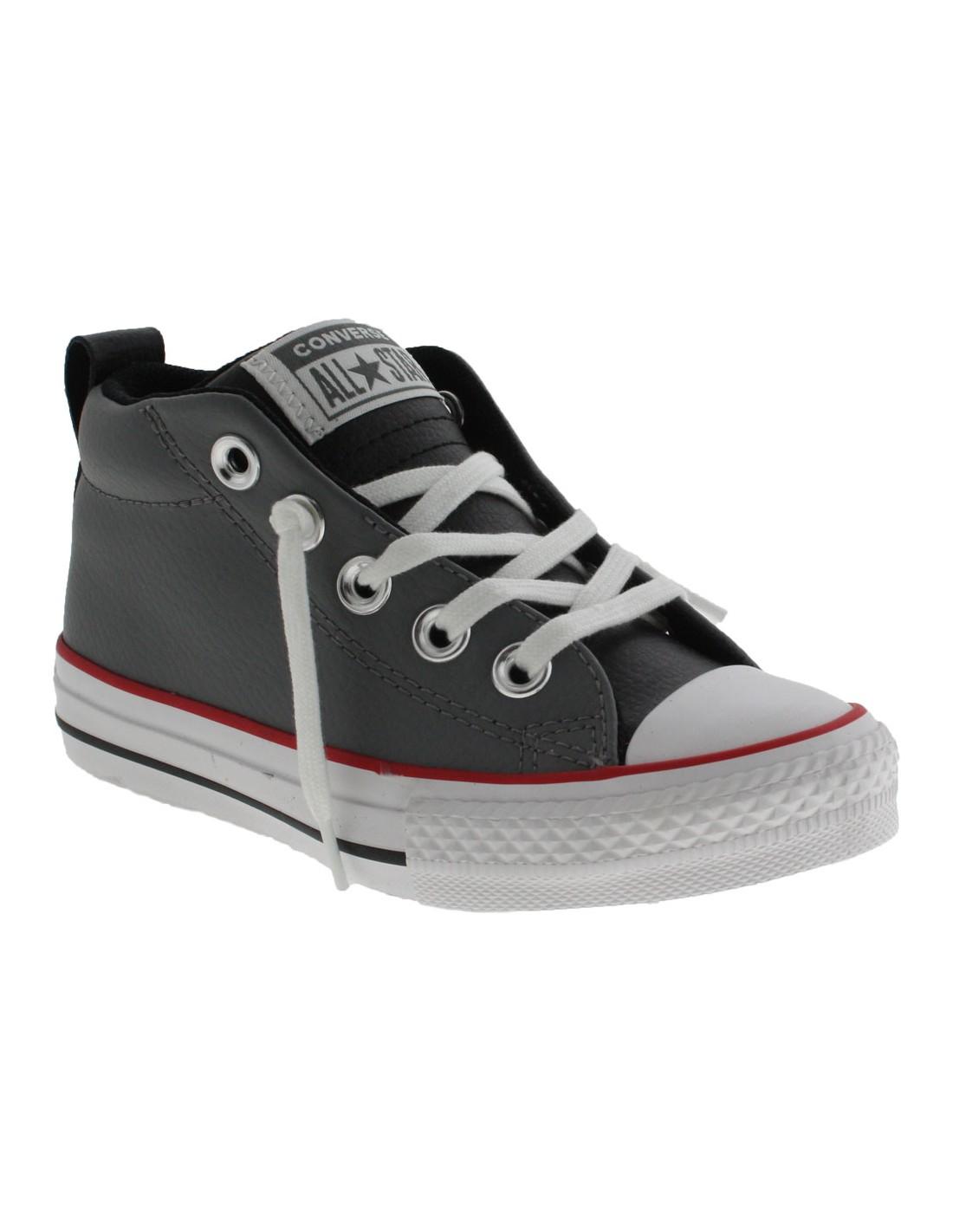 Scarpe Converse Ct as street mid bambino grigio scuro