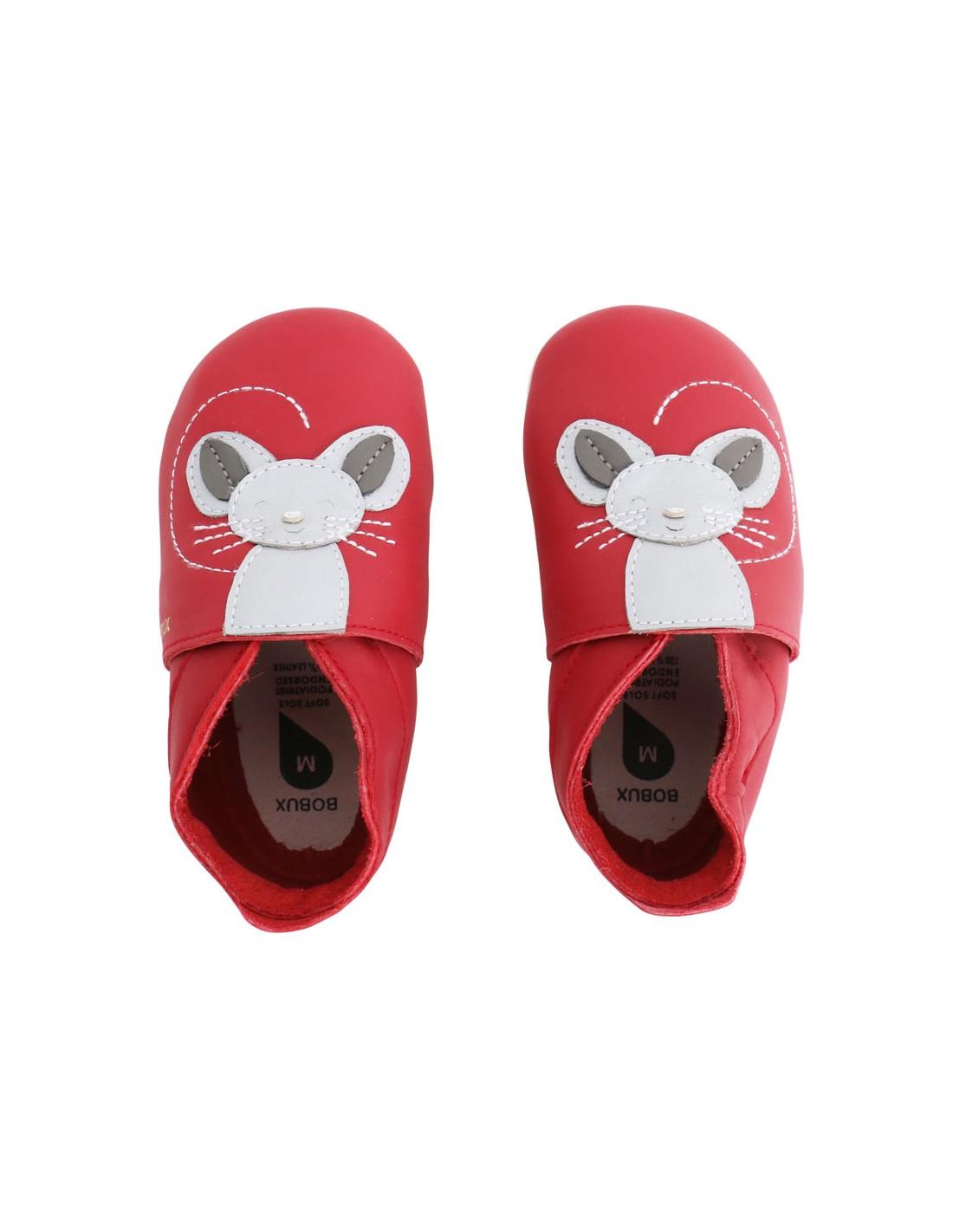 Scarpe Bobux neonato Blossom mouse rosso