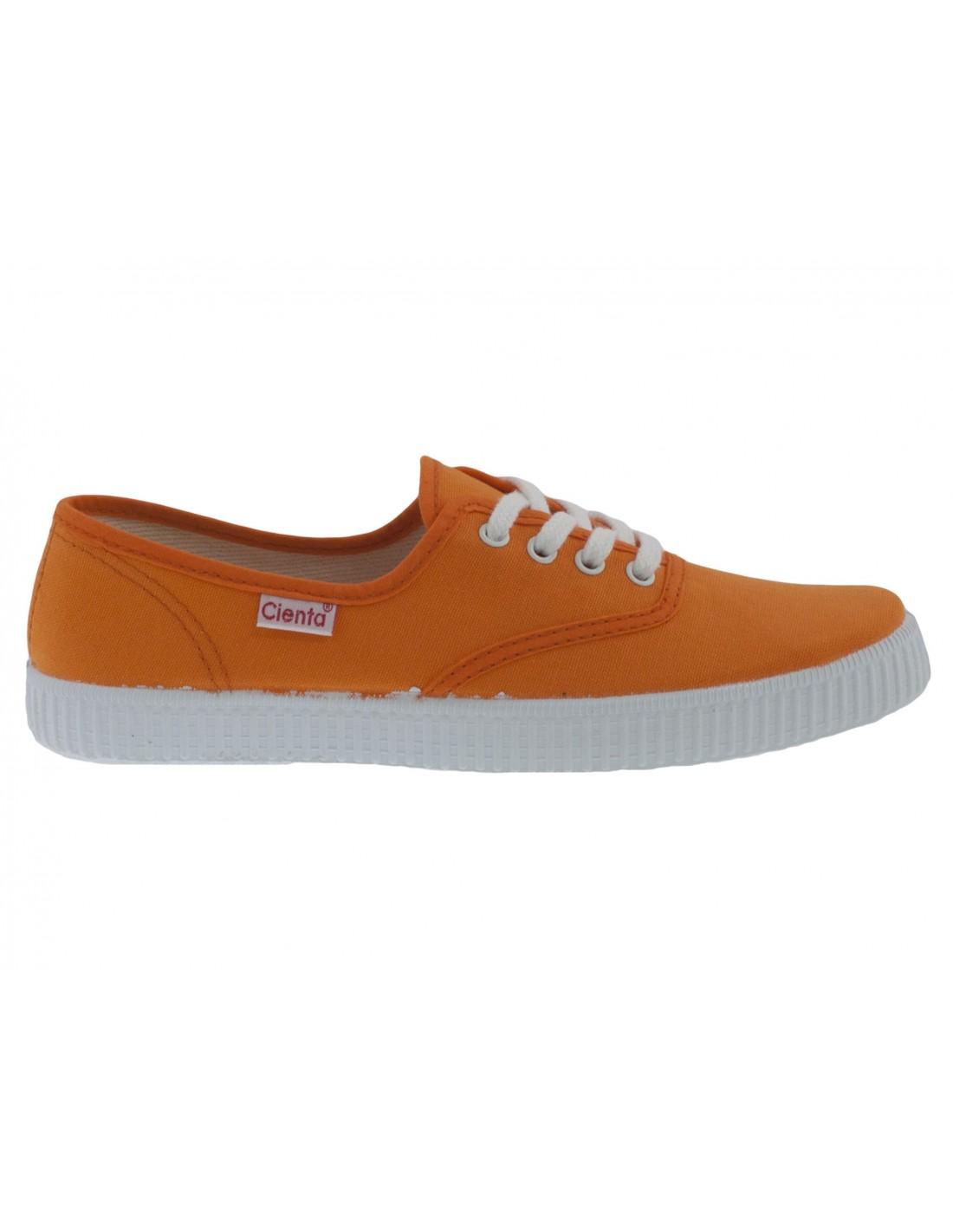 separation shoes b8c2f 014cb Scarpe estive bambino Cienta con lacci arancione