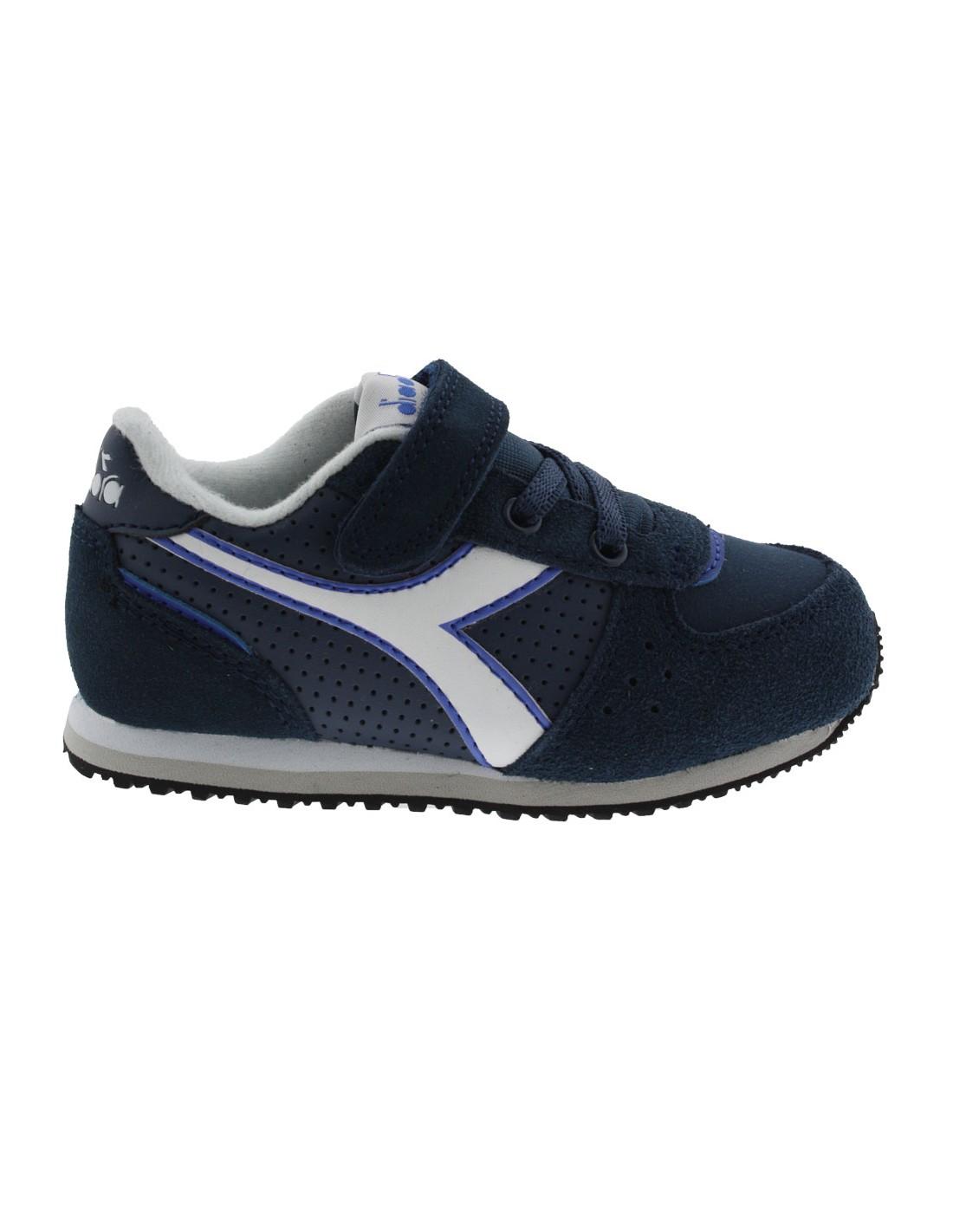 quality design 3e2c9 5ef16 Scarpe Diadora Malone S jr bambino con strappo blu
