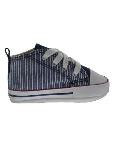 online store c68fc 5a996 Scarpe Converse first star culla bambino righe blu