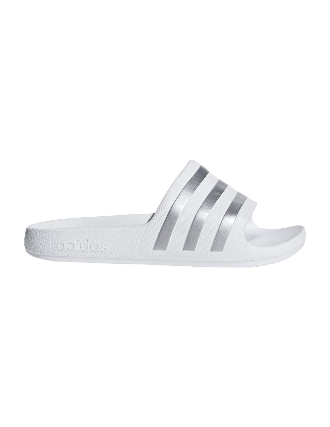 più economico immagini ufficiali negozio online Ciabatte Adidas Adilette slide-on bambina bambino bianco