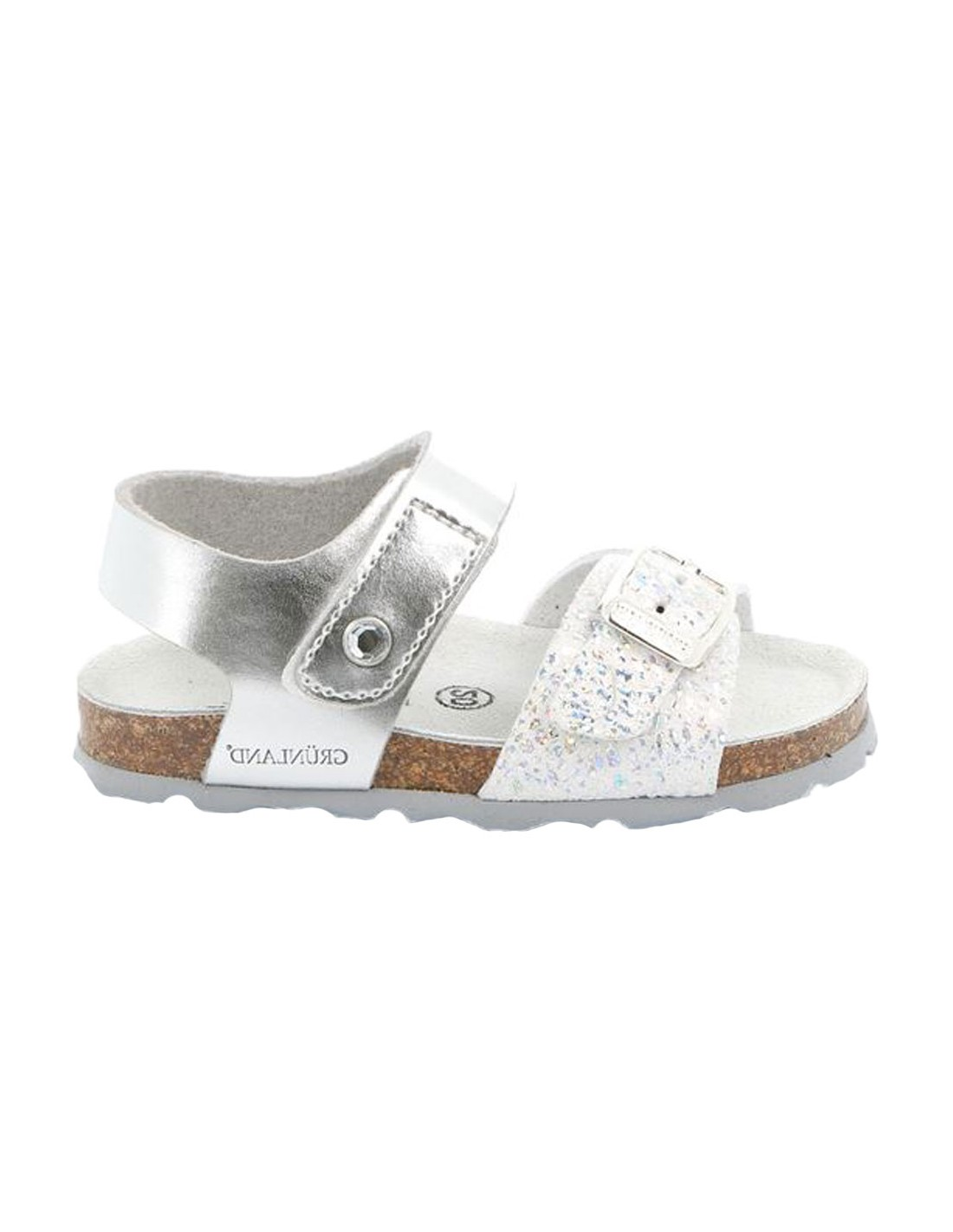 prezzi stati Uniti comprare reale Sandali Grunland Aria da bambina paillettes argento
