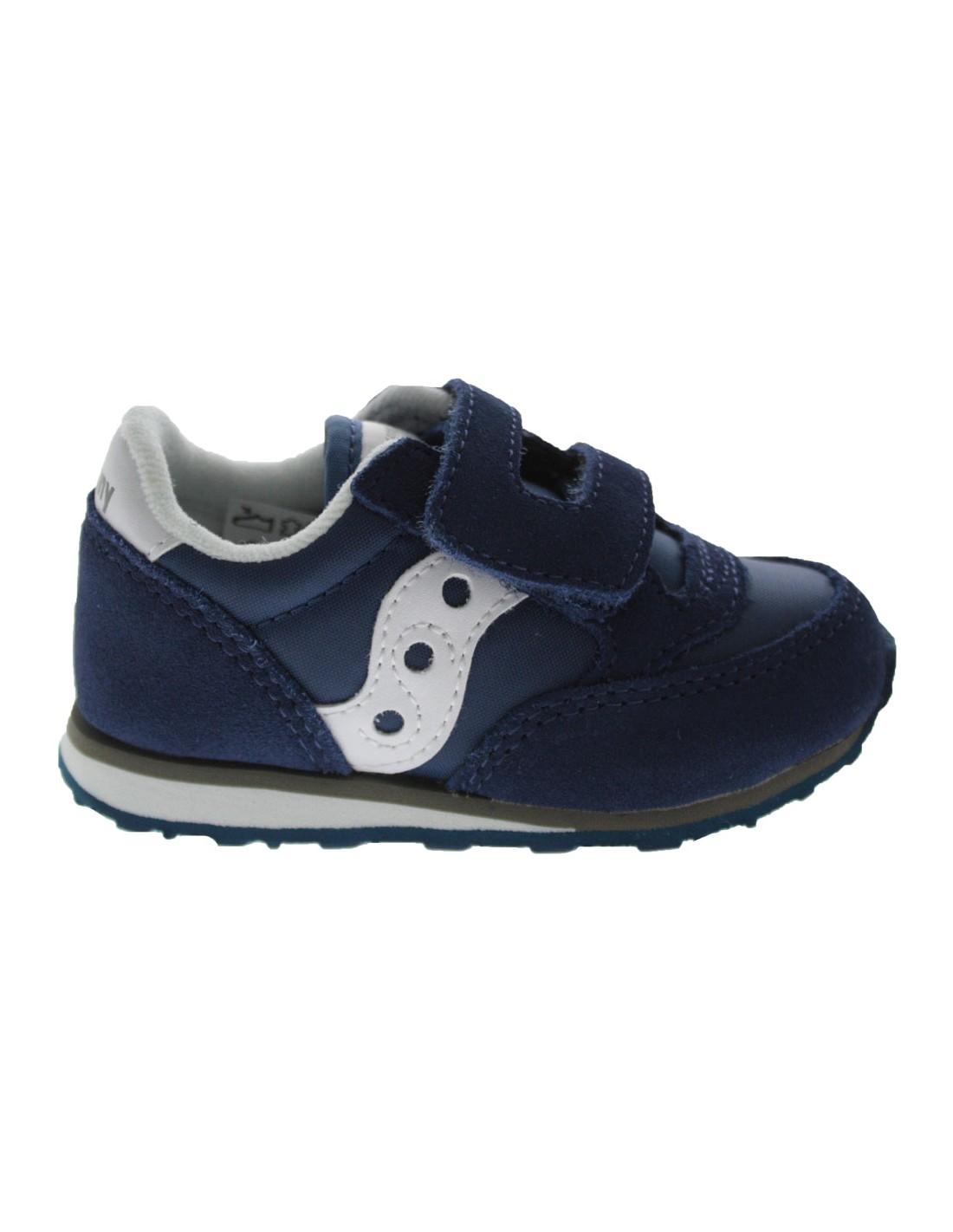 the latest 3f835 b7084 Scarpe Saucony Jazz baby bambino strappi blu