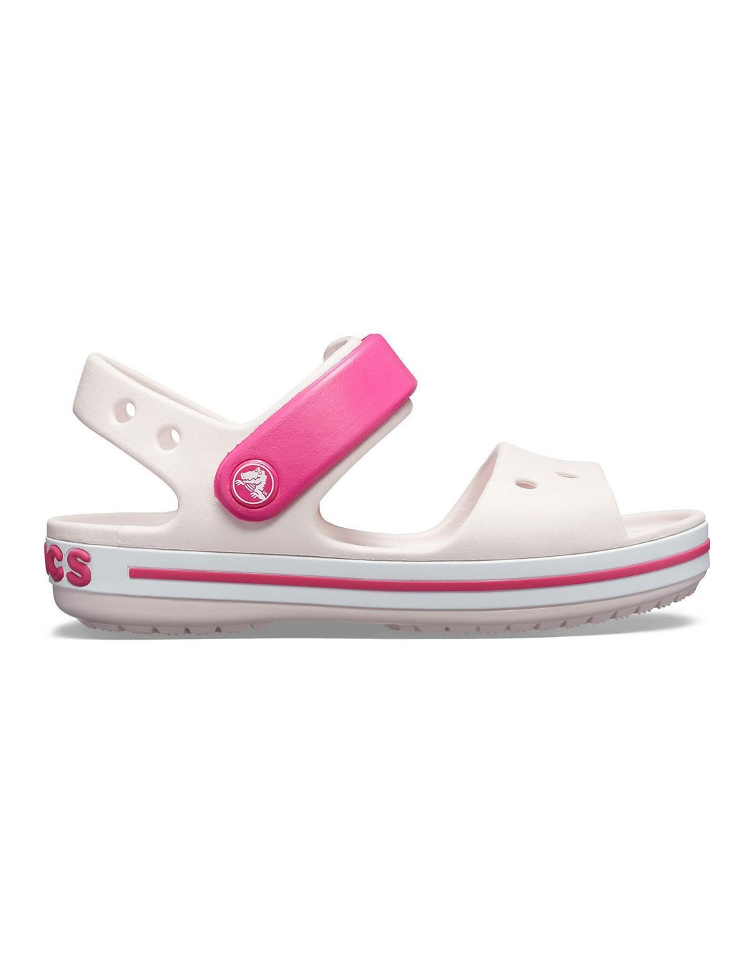 nuovo di zecca 6dee1 2c6fc Sandali Crocs Crocband bambina barely rosa
