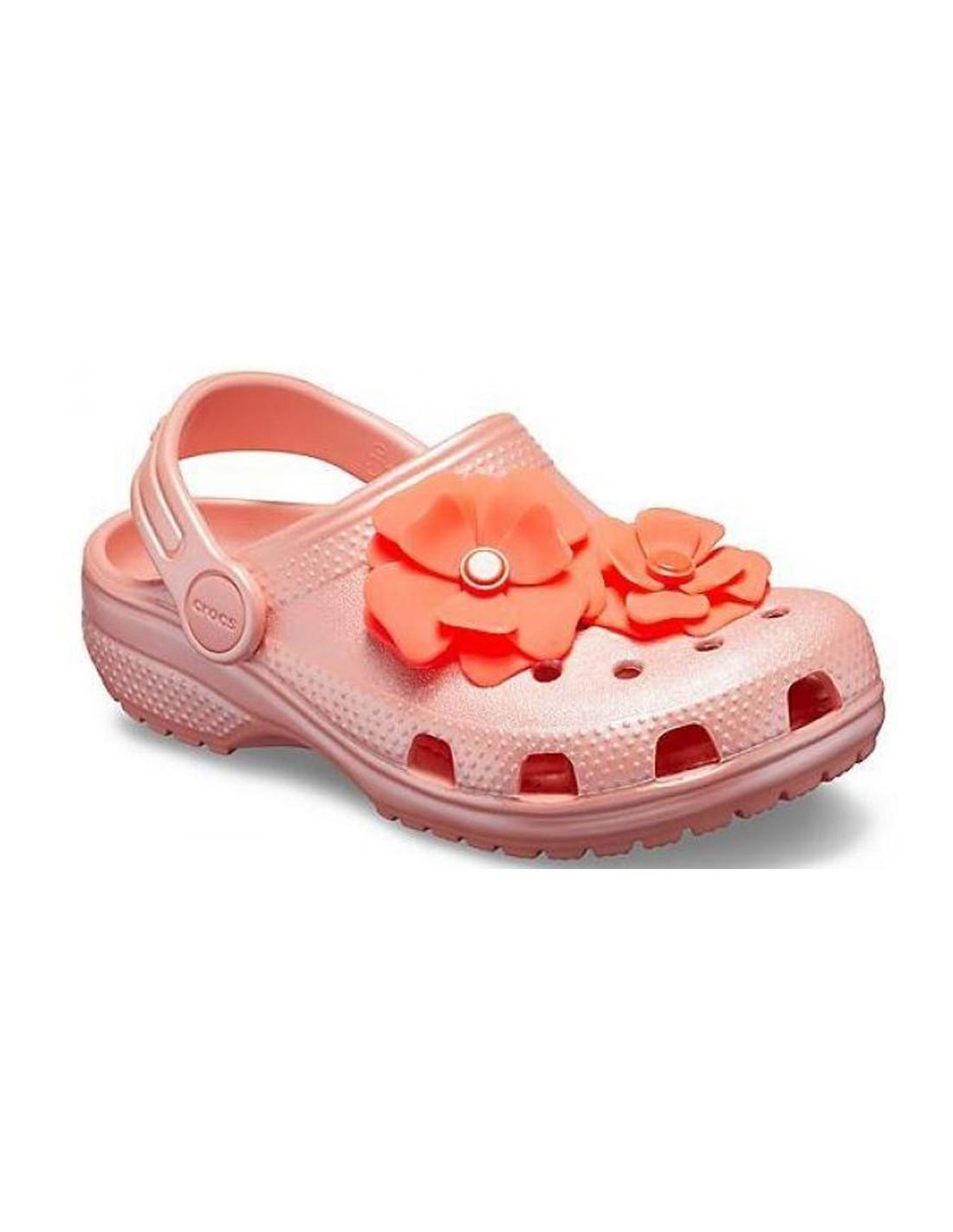 Clog Blooms Bambina Rosa Crocs Sandalo JTFl1c3K