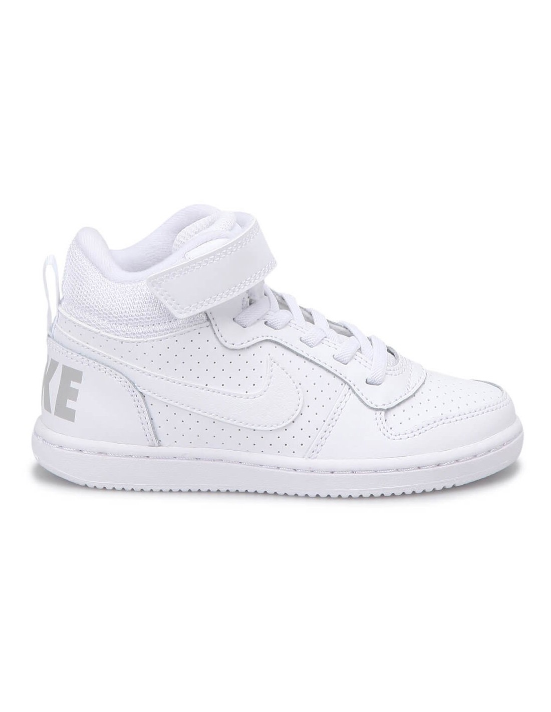Scarpe Nike Court Borough Mid bambino bambina bianco