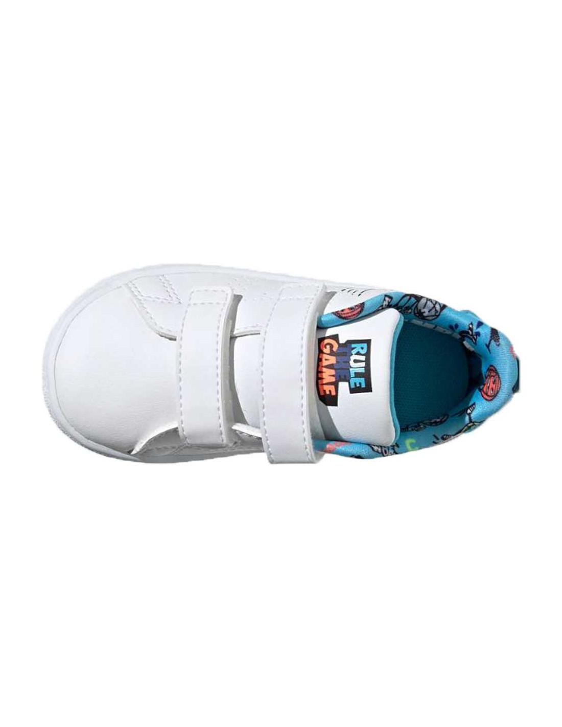 scarpe adidas bambino bianche e celesti